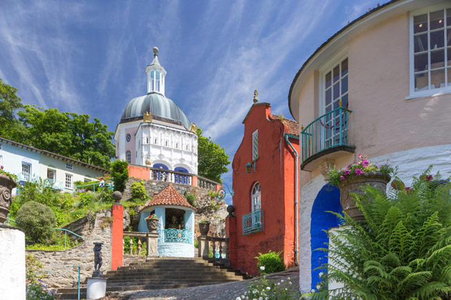 The model village of Portmeirion in North Wales. Credit: © Paul Weston/Alamy
