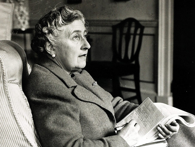 Agatha Christie at Greenway in 1946. Credit: Getty Images
