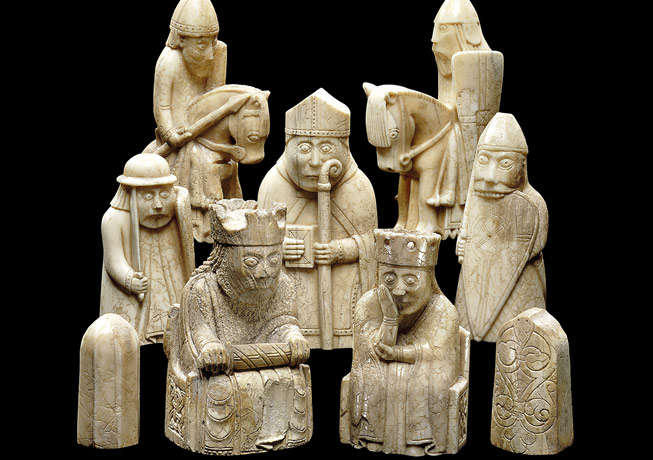 Lewis Chessmen. Credit: The Trustees of the British Musuem