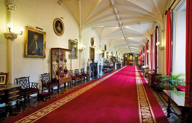 Long Gallery at Scone Palace, Perthshire