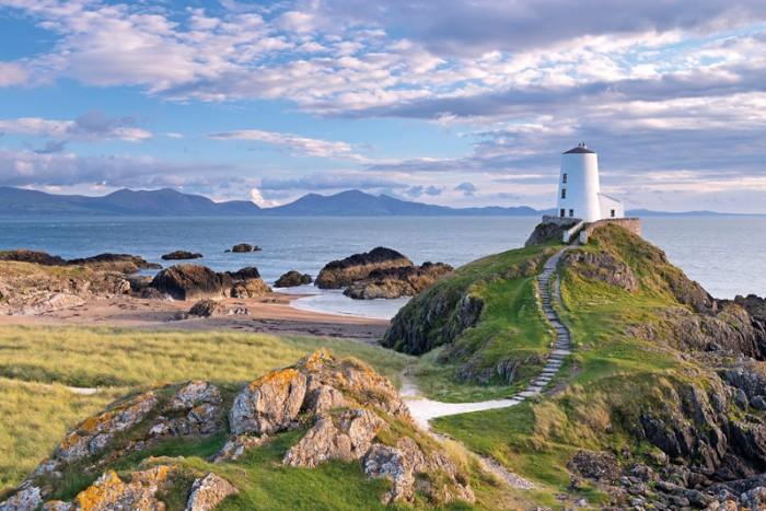 Twr Mawr lighthouse on Llanddwyn Island, Anglesey, North Wales. Credit: Adam Burton/Alamy