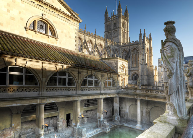 Roman Baths, Somerset. Credit: Colin Hawkins