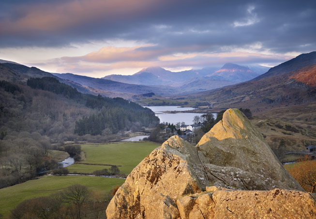 Snowdon from the Pinnacles and Capel Curig, Snowdonia, Wales. Credit: VisitBritain