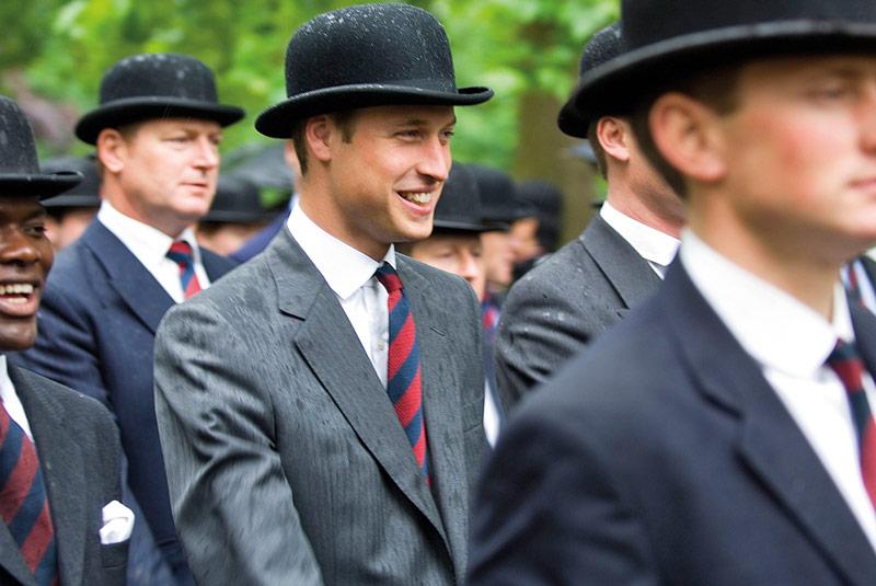 691ca3e375c Prince William sports a bowler on Cavalry Sunday. Credit  Marco Secchi Alamy
