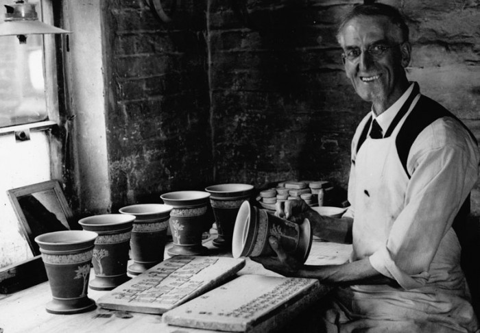 A potter at work at the Wedgwood factory in North Staffordshire. Credit: Images courtesy of Wedgwood