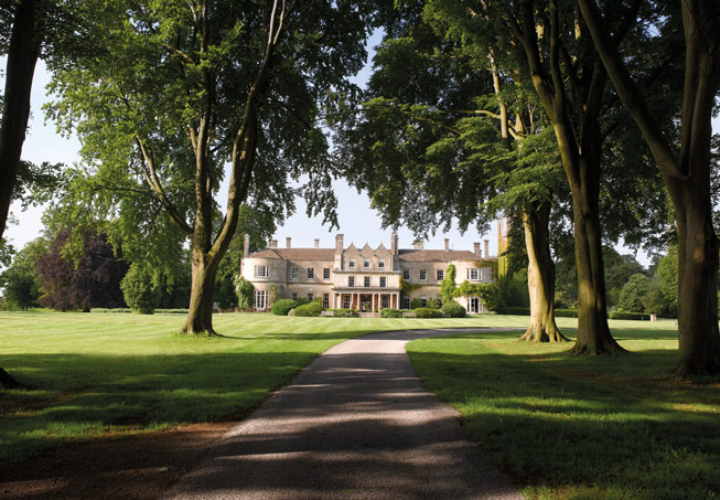 View of Lucknam Park from the long sweeping drive