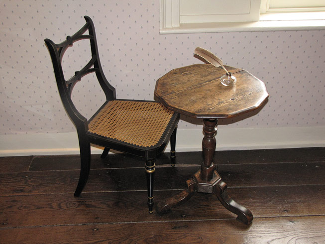Jane Austen's writing table at Jane Austen's House Museum