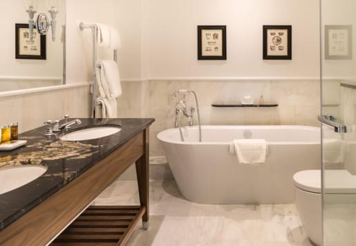 Luxurious bathroom at Lucknam Park