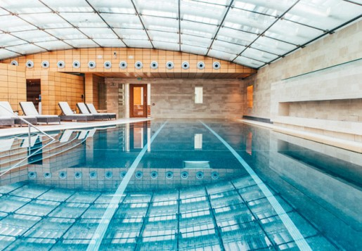 Indoor swimming pool at Lucknam Park