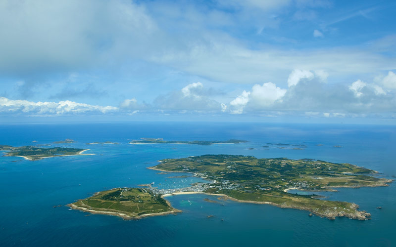 Isle of Scilly aerial view. Credit: Rob Lea/Alpine Image