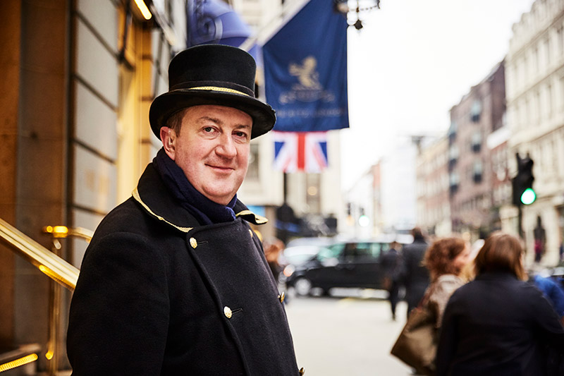 Michael O'Dowdal, doorman at The Ritz