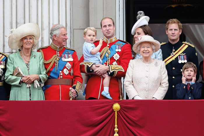 The current Royal Family on the balcony of Buckingham Palace