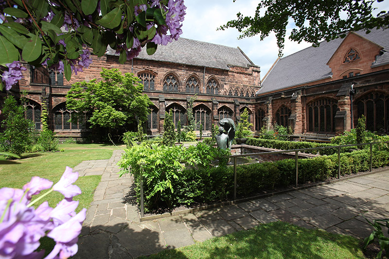 The Cloister Garden of Chester Cathedral