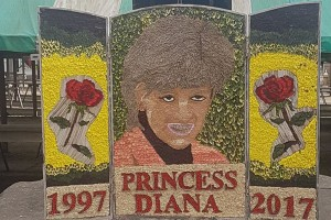 Princess Diana tribute in Chesterfield