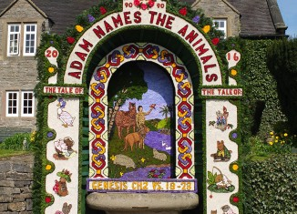 Well dressing in Tissington, Derbyshire