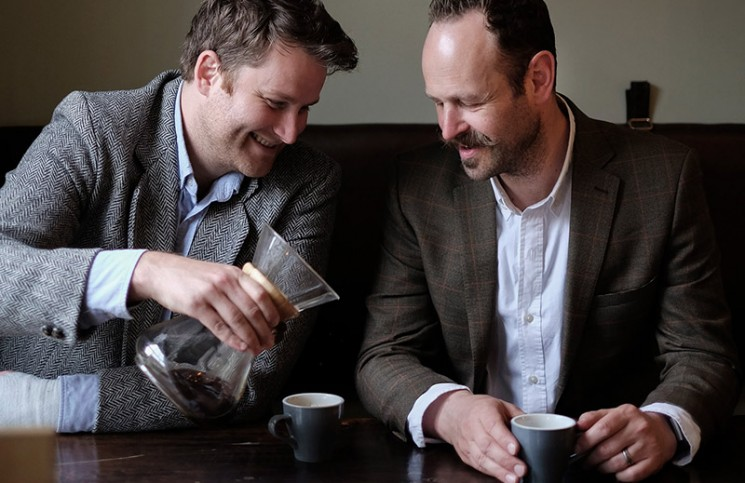 Ed Parkes and Henry Ayres of The Gentlemen Baristas