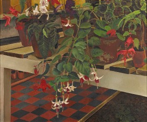 Greenhouse Interior by Stanley Spencer