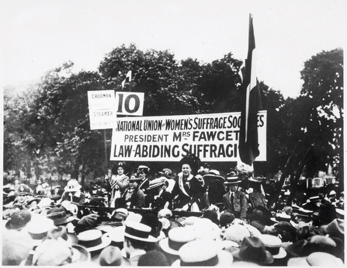 Millicent Garrett Fawcett speaks at Hyde Park in 1913