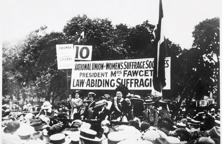 Millicent Garrett Fawcett speaks at Hyde Park in 1913