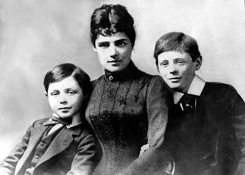 Winston Churchill (right) with his mother Jennie Jerome and younger brother John. Credit: ZUMA Press/Alamy
