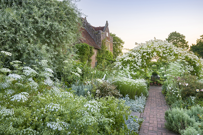 The White Garden in June at Sissinghurst Castle Garden, Kent. Credit: National Trust Images/Andrew Butler