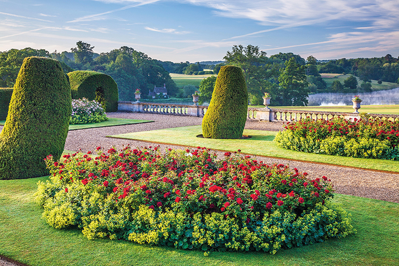View from the terrace of Bowood House in Wiltshire. Credit: Anna Stowe Botanica / Alamy