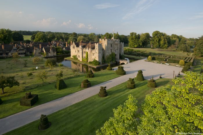 Hever Castle in Kent was Anne Boleyn's childhood home, founded in the 13th century. Credit: Visit Britain