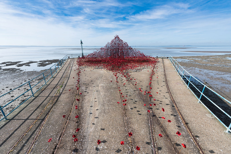Wave installation at Barge Pier, Shoeburyness, Southend-on-Sea