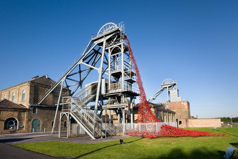 Weeping Window installation at Woodhorn Museum, Northumberland