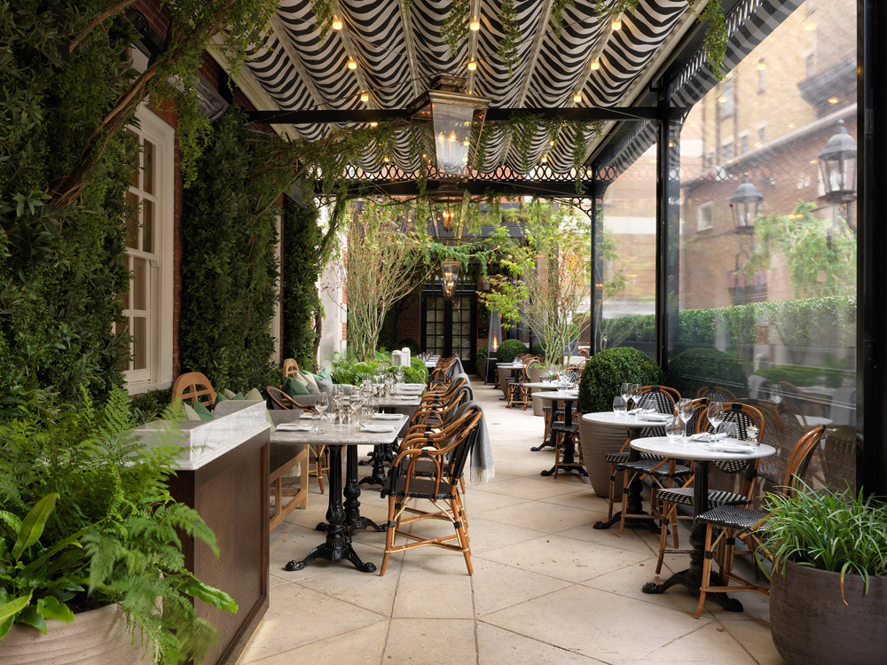 The Dalloway Terrace at the Bloomsbury Hotel, London